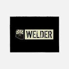Welder: Arizona Flag & State Shape 5'x7'Area Rug