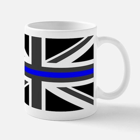 Police: British Flag & The Thin Blue Li Mug