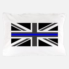 Police: British Flag & The Thin Blue L Pillow Case