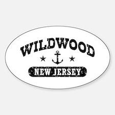 Wildwood NJ Sticker (Oval)