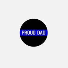Police: Proud Dad (The Thin Mini Button (100 pack)