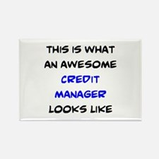 awesome credit manager Rectangle Magnet