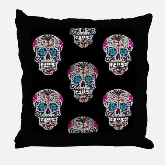 Cute Sugar skull Throw Pillow