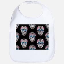 sequin Sugar Skulls Bib