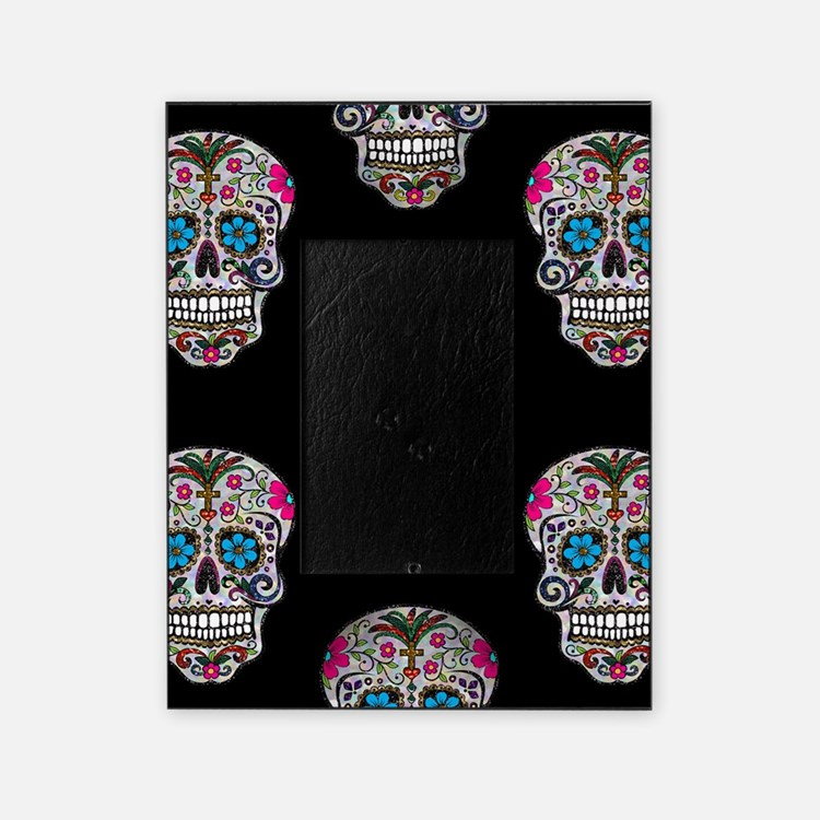 sequin Sugar Skulls Picture Frame