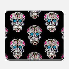 sequin Sugar Skulls Mousepad