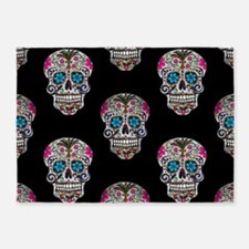 sequin Sugar Skulls 5'x7'Area Rug