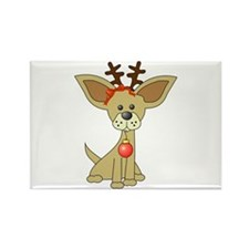Chihuahua Christmas Rectangle Magnet (100 pack)