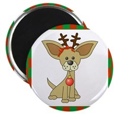 """Chihuahua Christmas 2.25"""" Magnet (10 pack)"""