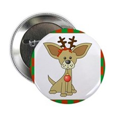 "Chihuahua Christmas 2.25"" Button (10 pack)"