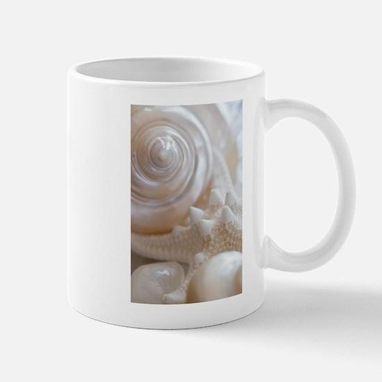 Pearl Spiral Seashell Sea Shells Mugs
