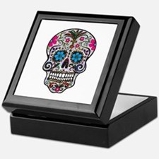 glitter Sugar Skull Keepsake Box