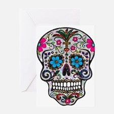 glitter Sugar Skull Greeting Cards