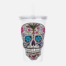 glitter Sugar Skull Acrylic Double-wall Tumbler