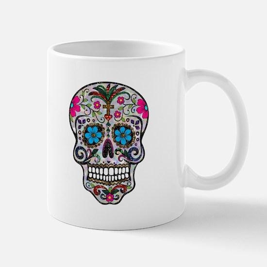 glitter Sugar Skull Mugs