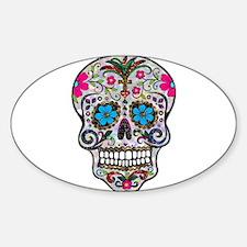 glitter Sugar Skull Decal