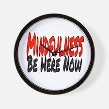 Mindfulness Wall Clock