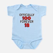 Officially 100 Forever 18 Infant Bodysuit