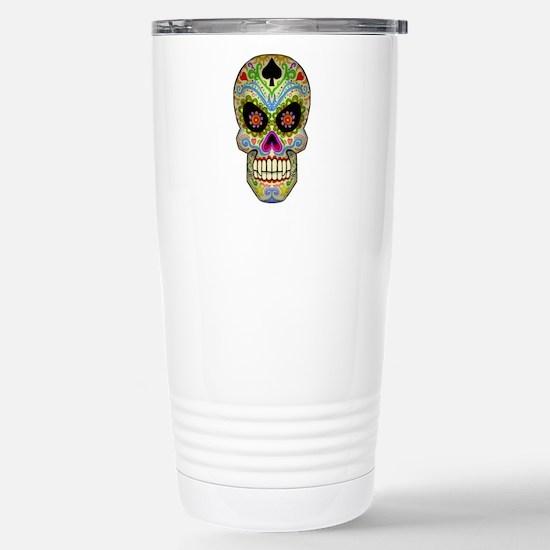 Sugar Skull Stainless Steel Travel Mug