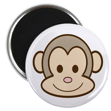 "Monkey Face 2.25"" Magnet (10 pack)"
