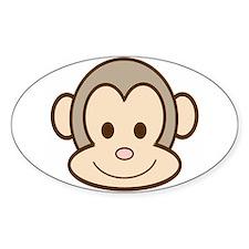 Monkey Face Oval Bumper Stickers