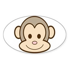 Monkey Face Oval Decal