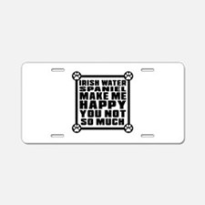 Irish Water Spaniel Dog Mak Aluminum License Plate