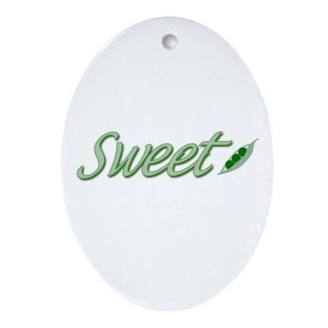 Sweet Pea Oval Ornament