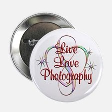 "Live Love Photography 2.25"" Button (10 pack)"