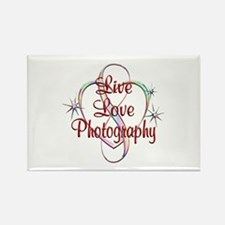 Live Love Photography Rectangle Magnet