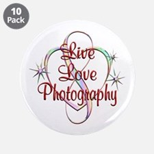 """Live Love Photography 3.5"""" Button (10 pack)"""