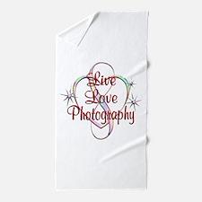 Live Love Photography Beach Towel