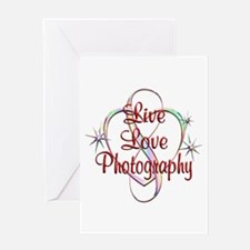 Live Love Photography Greeting Card