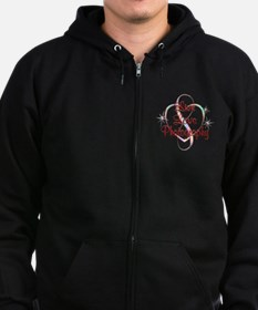 Live Love Photography Zip Hoodie (dark)