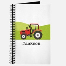 Personalized Red Tractor Journal