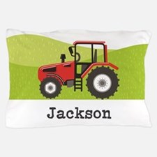 Personalized Red Tractor Pillow Case