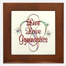 Live Love Gymnastics Framed Tile