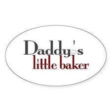 Daddy's Little Baker Oval Decal