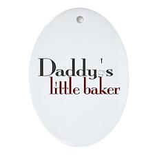 Daddy's Little Baker Oval Ornament