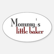 Mommy's Little Baker Oval Decal