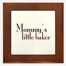 Mommy's Little Baker Framed Tile