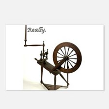 2-spinning wheel addictio Postcards (Package of 8)