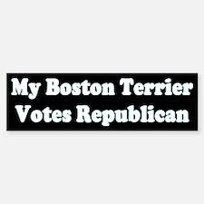 Boston Terrier Votes Repub Black Bumper Bumper Bumper Sticker
