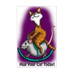 Rocking Cat Mini Poster Print