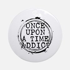 Once Upon a Time Addict Stamp Round Ornament