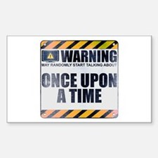 Warning: Once Upon a Time Rectangle Sticker (10 pa