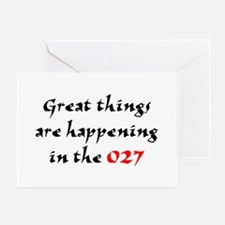 happening in the 027 Greeting Card
