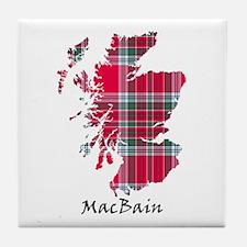 Map - MacBain Tile Coaster