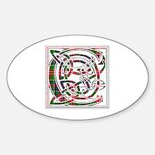 Monogram - Christie Sticker (Oval)