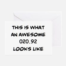 awesome 020.92 Greeting Card